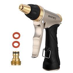 CRENOVA Garden Hose Nozzle Spray Nozzle - 6 Pattern Metal Wa