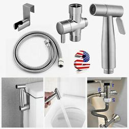 Premium Stainless Steel Bidet Spray Shattaf Toilet Brass T-A