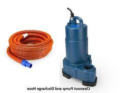 AquascapePRO® Pond Cleanout Pump and 50' Pump Discharge Hos