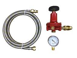 Propane LP Gas Adjustable 0-100psi High Pressure Regulator P