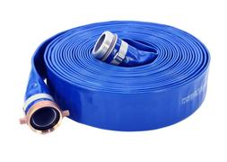 "pvc discharge hose assembly, blue, 2"" male x female npsm, 65"