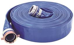 Abbott Rubber PVC Discharge Hose Assembly, Blue, 2 Male X Fe