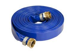 Abbott Rubber 1147-1000-25 Reinforced Blue PVC Lay Flat 1-In