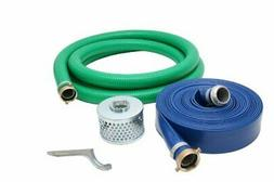 Abbott Rubber PVC Suction and Discharge Hose Pump Kit, Green