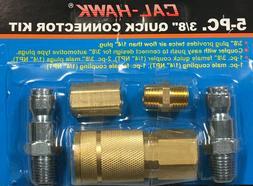 "5pc Quick Coupler Set Air Hose Connector Fittings 3/8"" NPT T"