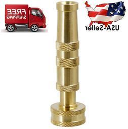"Solid Brass Garden Spray Nozzle 4"" Adjustable Twist Water Ho"
