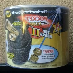 Top brass ll Pocket hose Dura Rib 50 ft. - Black